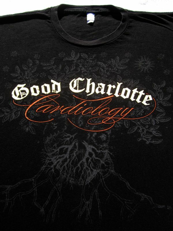 GOOD CHARLOTTE world 2011 tour LARGE concert T-SHIRT cardiology