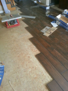 Laminate and vinyl flooring