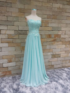Tiffany blue full evening dress for ladies