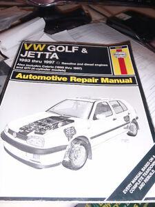 Haynes manual for VW Golf & Jetta