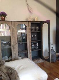 Beautiful French solid oak cupboard
