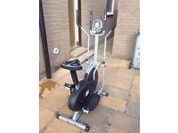 Cross Trainer exercise bike HARDLY USED