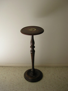 Hand Carved Wooden Pedestal Stand