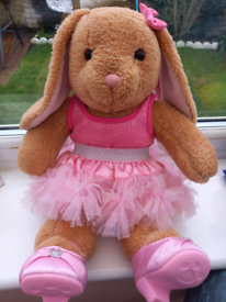 Build A Bear Workshop Rabbit With Pink Ears PINK FRILLY DRESS PINK HE