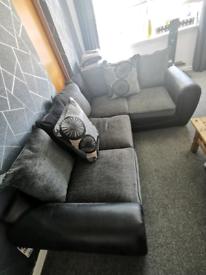 4 seat fabric corner sofa
