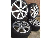 Mercedes Alloy Wheels 18 inch with tyres