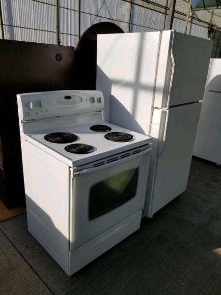 Full size fridge and stove