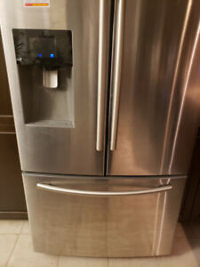 **WELL MAINTAINED** LIKE NEW SAMSUNG SS FRENCH DOOR FRIDGE -