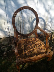 Antique Round Back Chair