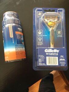 Gillette Fusion 5 Razor + Shaving Cream