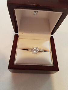 Stunning white gold high quality engagement ring.