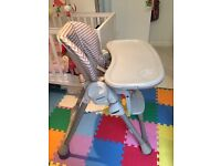 Chicco Polly 2 in 1 baby high chair- Great Condition