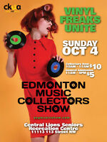 Edmonton Music Collectors Show Sunday Oct. 4 Tons of Vinyl!