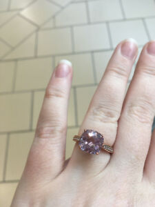 peoples rose gold & rose de france engagement ring size 7