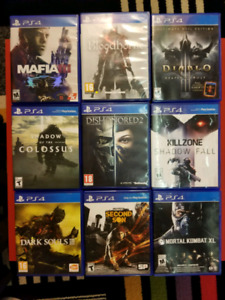 25 PS4 GAMES SELLING SEPARATELY (USED)