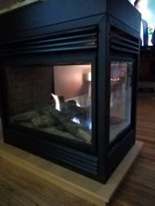 Napoleon 3 sided Natural Gas Fireplace