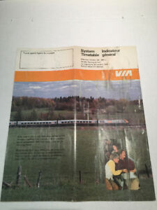 Vintage Via Rail Train Schedules from the 70's and 80's.