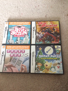 SELLING FOUR (4) DIFFERENT NINTENDO DS GAMES