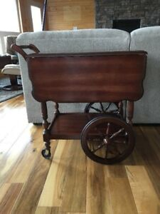 Antique Wooden Tea Cart   NEW PRICE!
