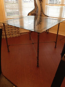 Pier One Medici pewter dining table, console, mirror & stand