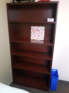 Cherry brown bookcases X3