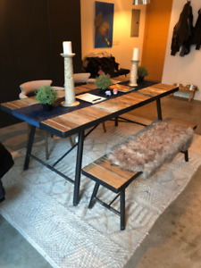 Structube Dining Table w/ Bench and Chairs
