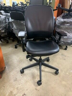 Steelcase Leap V2 Office Chair - Black Polyurethane