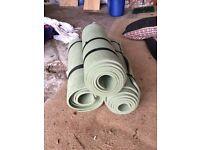 3 x camping roll mats