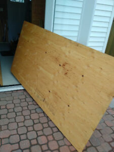 TWO SHEETS HALF INCH 4X8 PLYWOOD
