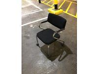 Vitra Black Meeting Chair On Wheels