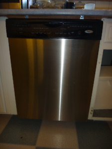 Whirlpool Stainless Steel Dishwasher.