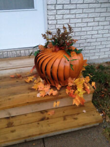 Upcycled pumpkin decorations