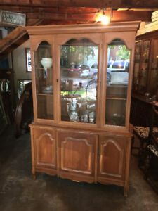French Provincial Display Cabinet.