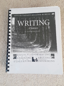 """Priced right to sell the """"Writing, A Journey """" Textbook"""