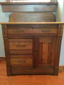 Cool antique washstand (table)  - see also antique chairs (3)