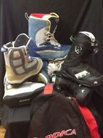 Snowboard boots 3pair new used. 1 bag
