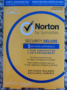 New Norton by Symantec Security Deluxe 5 Devices 1 year