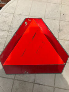 Metal Triangular YIELD Sign Slow Moving Vehicle