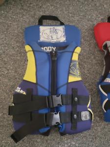Youth size life jackets by Body Glove