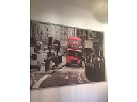 Framed picture of London Bus