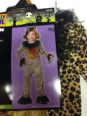 Kitty Cat Kitten Girls Baby Brown Leopard Halloween Costume 12-18 MO NWT Cosplay