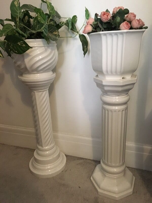 Tall Vase Artificial Plant With Stand Jardiniere In