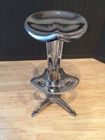 Chintz chrome bar stool