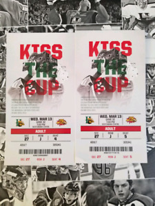 2 LB Mooseheads tickets for tonight March 13th