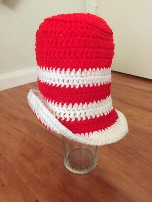 Crochet Dr Seuss inspired Hat,Newborn Hat, Baby Photography, Photoprop, costume - Dr Seuss Infant Costumes