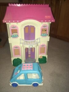 Fisher Price Loving Family Doll House Dollhouse Accessories Van