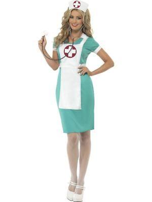 Scrub Nurse Costume, Hospital Fancy Dress, UK Size 8-10