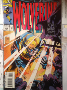 WOLVERINE comic book signed