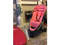 Rare Quinny zapp extra in Candy pink with all extras lovely condtion