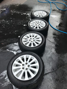 Subaru Impreza Alloy Wheels with Michelin Premier Tires